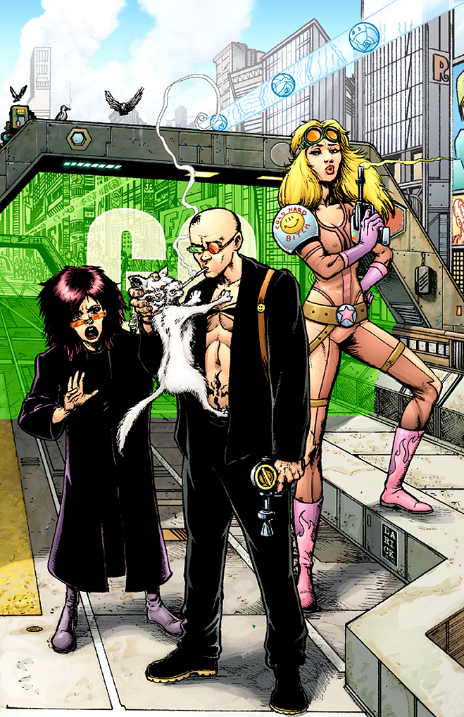 Transmetropolitan All Around the World TMET ART COVclr